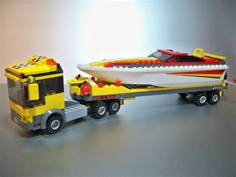 Toy Boat And Trailer Set by Lego City Truck With Boat And Trailer Set 4643 For Sale In