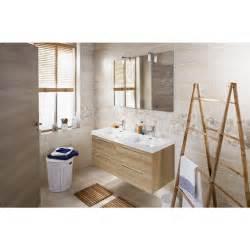 ensemble meuble de salle de bains plan verre sans robinetterie l 120 cm fokus bain