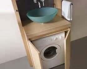 gain de place dans la salle de bain le lave linge encastr 233 sous l 233 vier utility room