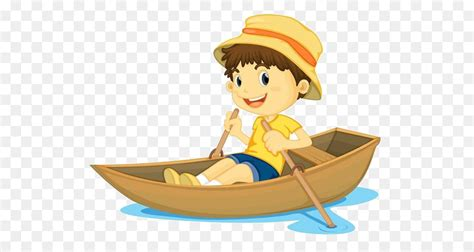 Cartoon Boat Characters by Row Row Row Your Boat Rowing Childrens Song Clip Art