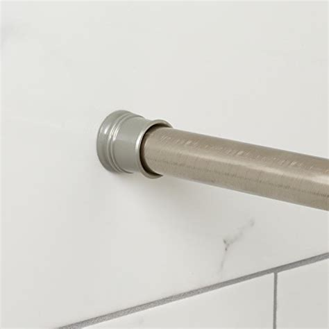zenna home 505st tension shower curtain rod 44 to 72 inch brushed nickel new ebay