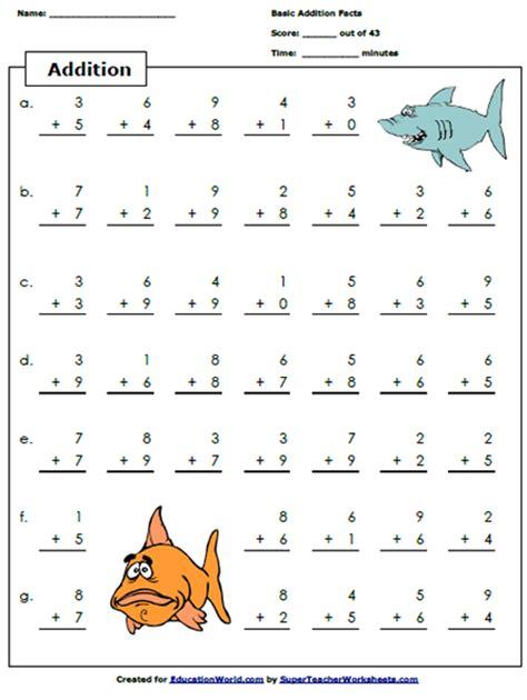 Super Teacher Addition Worksheet  Education World