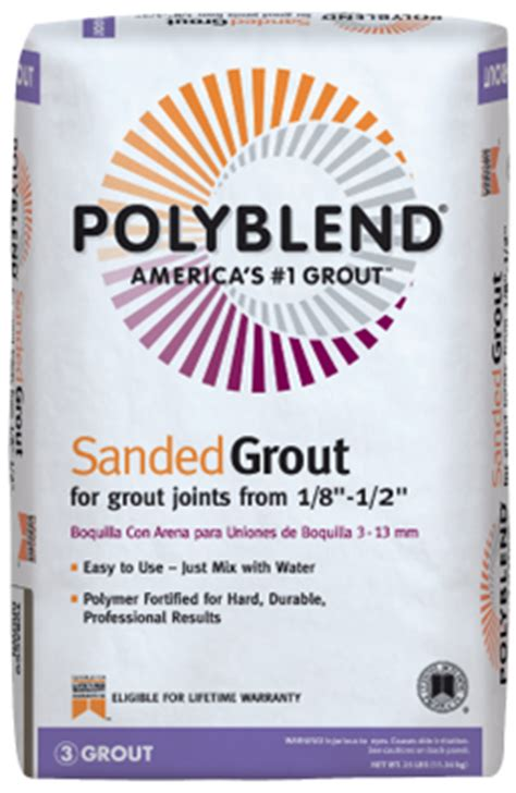 polyblend 174 sanded grout custom building products