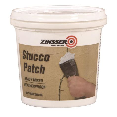 zinsser 1 qt ready mixed stucco patch of 6 60584