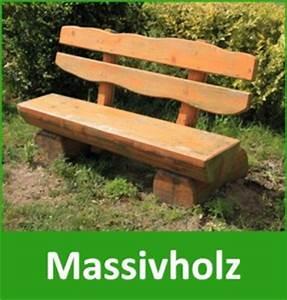 Holz Gartenbank Massiv : gartenbank massivholz bestseller shop mit top marken ~ Markanthonyermac.com Haus und Dekorationen