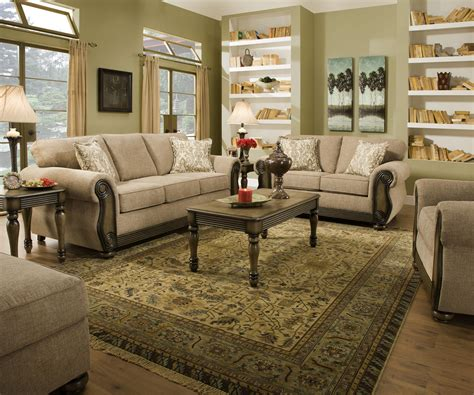Furniture For Living Rooms : Theory Dunes Traditional Beige Living Room Furniture Set W
