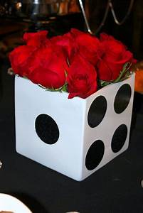 Dice, Centerpieces and Casino party on Pinterest
