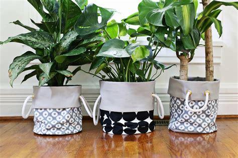 fabric planter diy a beautiful mess