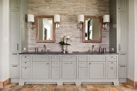 Grey Bathroom Vanity Bathroom Transitional With Bathroom