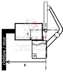 kit motorisation portail battant 18 12v 2 3m par vantail p easykit03t