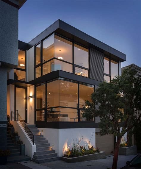 Sleek And Contemporary Fourlevel Home In San Francisco