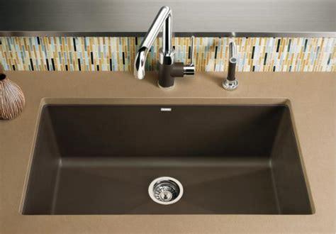 blanco 440147 precis single bowl undermount silgranit kitchen sink cafe brown
