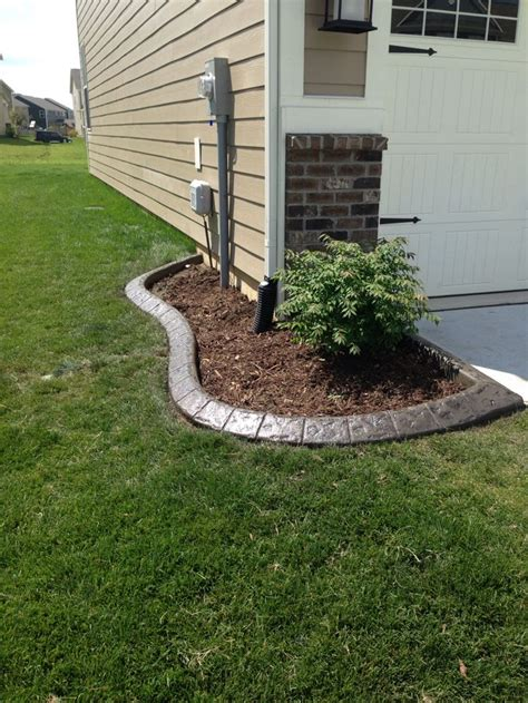 Color And Sted Concrete Edging Concrete Flower Bed