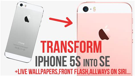 Transform Iphone 5s Into Se / Add Live Wallpapers / Siri Always On / Front Flash / Jailbreak First Iphone Event Copy In Jaipur Keyboard Use Charge 6 Unlocked Version S5 Full Specification Hand Specs