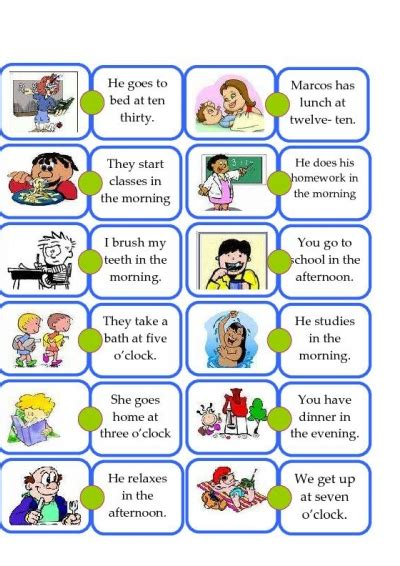Daily Routines Vocabulary For Kids
