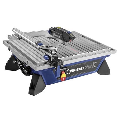kobalt 7 in tabletop tile saw glass and mosaic