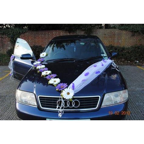 d 233 coration voiture mariage marguerites tulle blanche avec