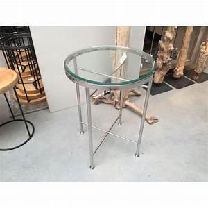 Tisch Glas Metall : beistelltisch rund glas metall tisch glas verchromt metall h he 70 cm ~ Markanthonyermac.com Haus und Dekorationen