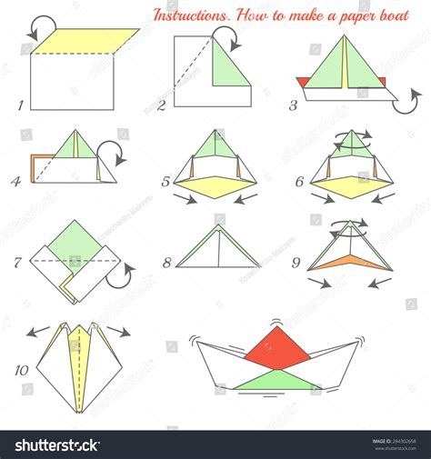 How To Make Paper Boat Download by How To Make A Paper Boat For Kids Www Imgkid The
