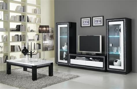 meuble tv design laqu 233 blanc et noir doria meubles tv hifi vid 233 o soldes salon promos