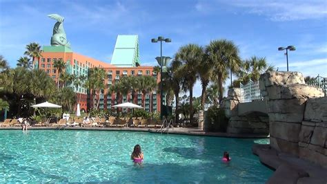Swan Boats Videos walt disney world swan and dolphin hotel pool area video