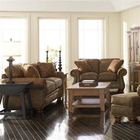 broyhill laramie sleeper sofa and loveseat set in brown brh3921 traditional fabric