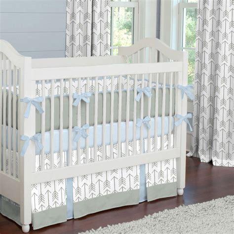 gray and lake blue arrow crib bedding carousel designs
