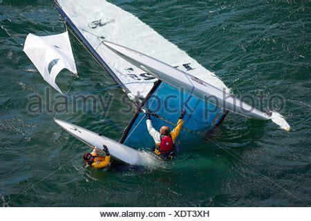Catamaran Rhode Island by Capsized Catamaran During The Hobie 16 Nationals