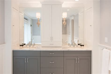 gray and white modern master bath vanity modern bathroom detroit