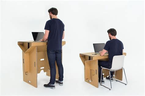 refold cardboard standing desk changes the way you work