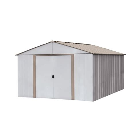 shop arrow oakbrook galvanized steel storage shed common