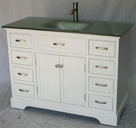 46 inch bathroom vanity transitional shaker white color