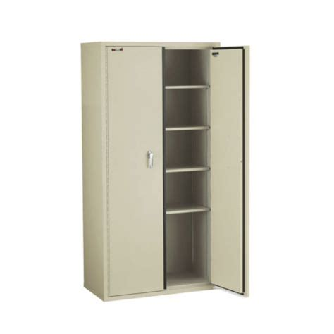 fireproof five shelf storage cabinet 72 quot h officefurniture