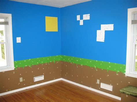 dirt blocks with sky sun clouds minecraft bedroom