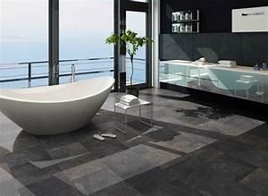 Boden Für Badezimmer : r ume moderne badezimmer klick vinyl ~ Markanthonyermac.com Haus und Dekorationen
