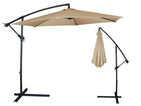 10ft outdoor patio sun shade umbrella cantilever hanging offset crank canopy ebay