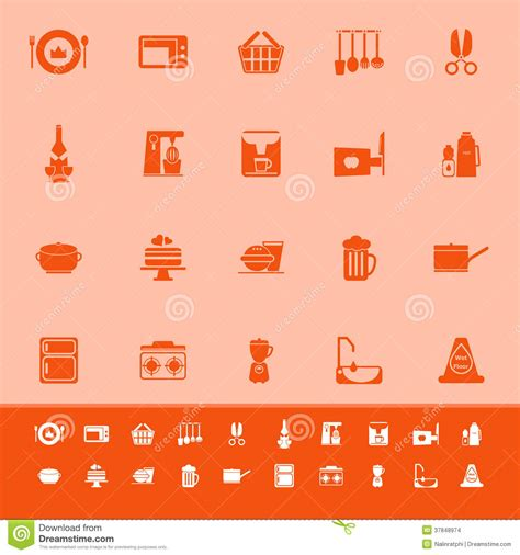 ic 244 nes 224 la maison de couleur de cuisine sur le fond orange images stock image 37848974