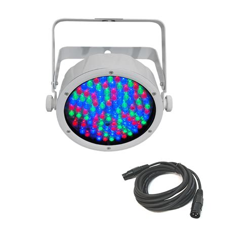 chauvet slimpar 56 led white dj lighting par can led rgb wash light cable chv13 slimpar56wht