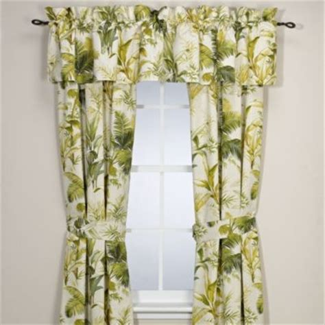bahama home island botanical 84 inch window curtain panel pair tropical curtains by