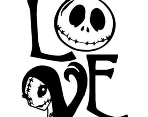 Jack And Sally Pumpkin Stencil Free by Harley Quinn Squad Skull Vinyl Decal By