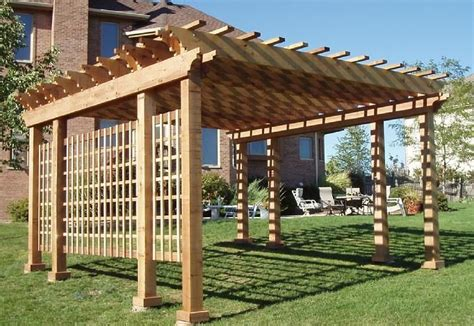 western cedar pergola kits garden outdoors