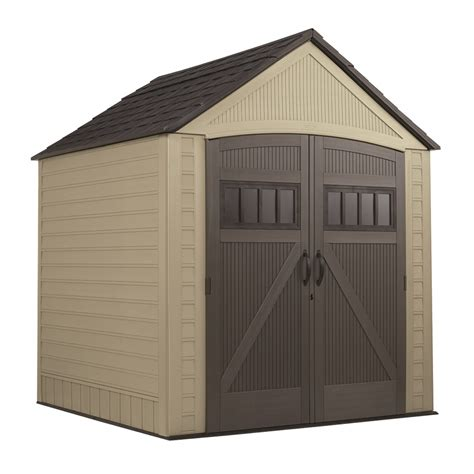 shop rubbermaid roughneck gable storage shed common 7 ft x 7 ft actual interior dimensions 6