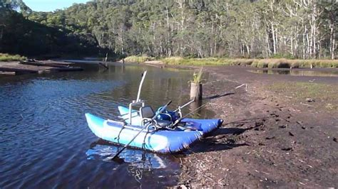 Inflatable Pontoon Boats Youtube by Fishing On The Edwards River Nsw On My Inflatable Pontoon