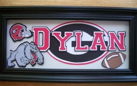 Sports Name Sign Georgia Bulldogs Bedroom Home By