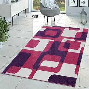 Teppich Läufer Lila : kinderzimmer teppich pink lila creme retro model f r m dchen zimmer kurzflor moderne teppiche ~ Markanthonyermac.com Haus und Dekorationen
