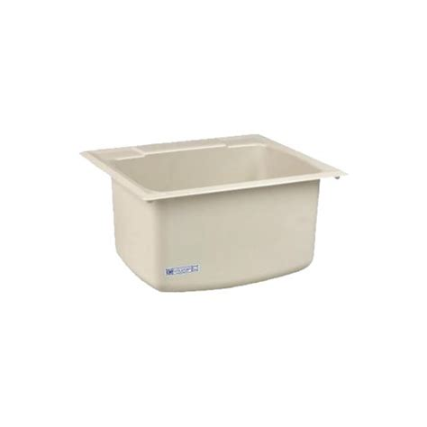 mustee 10cbt utility sink 22 inch x 25 inch biscuit new ebay