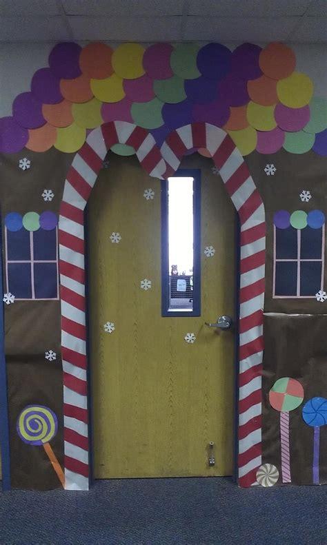 gingerbread house classroom door decor gingerbread