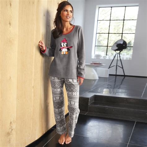 pyjama femme polaire blancheporte
