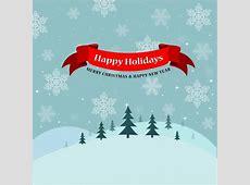 Vintage Happy Holidays Card Free vector in Adobe