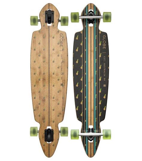 globe longboard skateboard complete pinner drop through